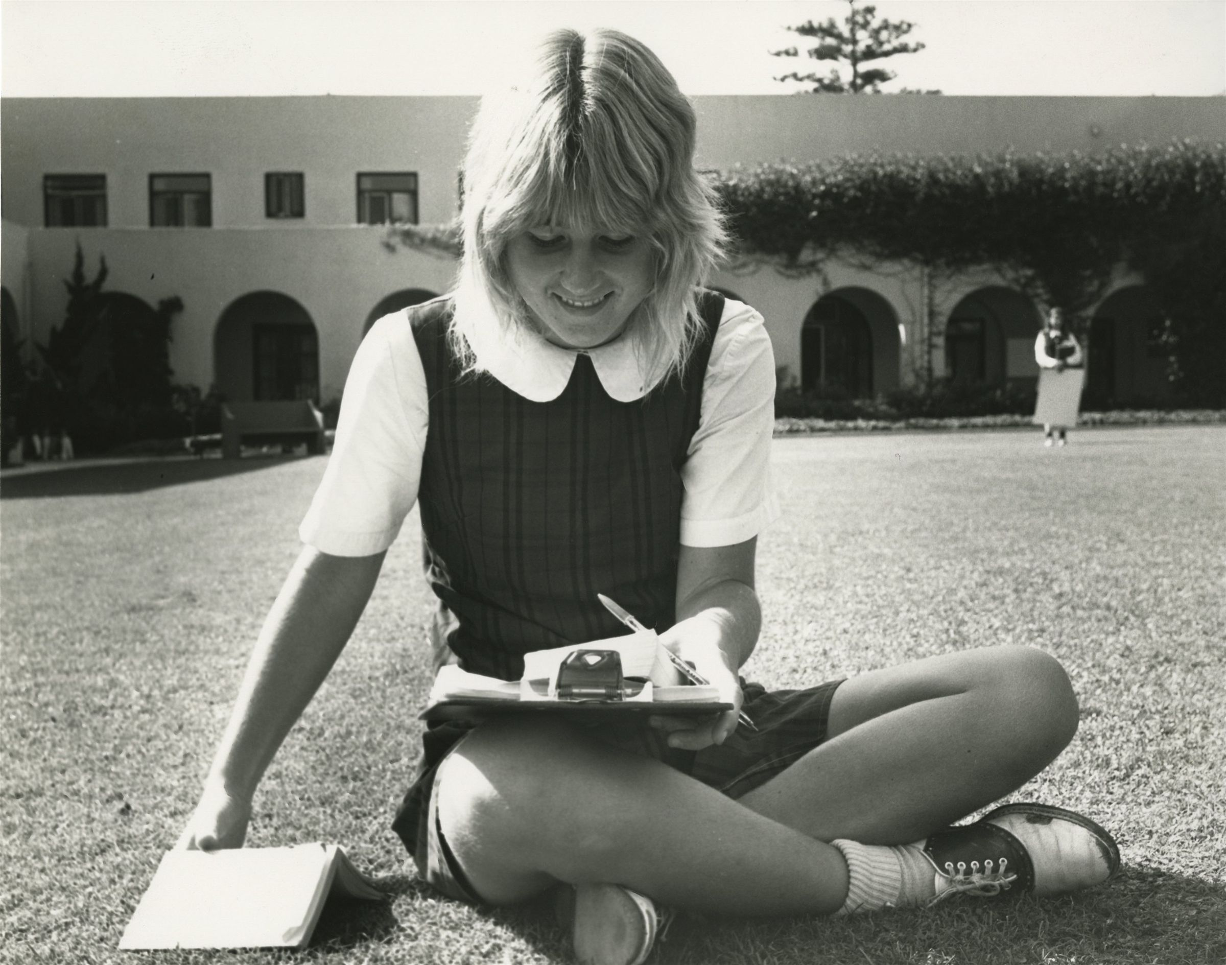 The Quad has always been a place of reflection and study, as shown in this photo from the early 1970s.