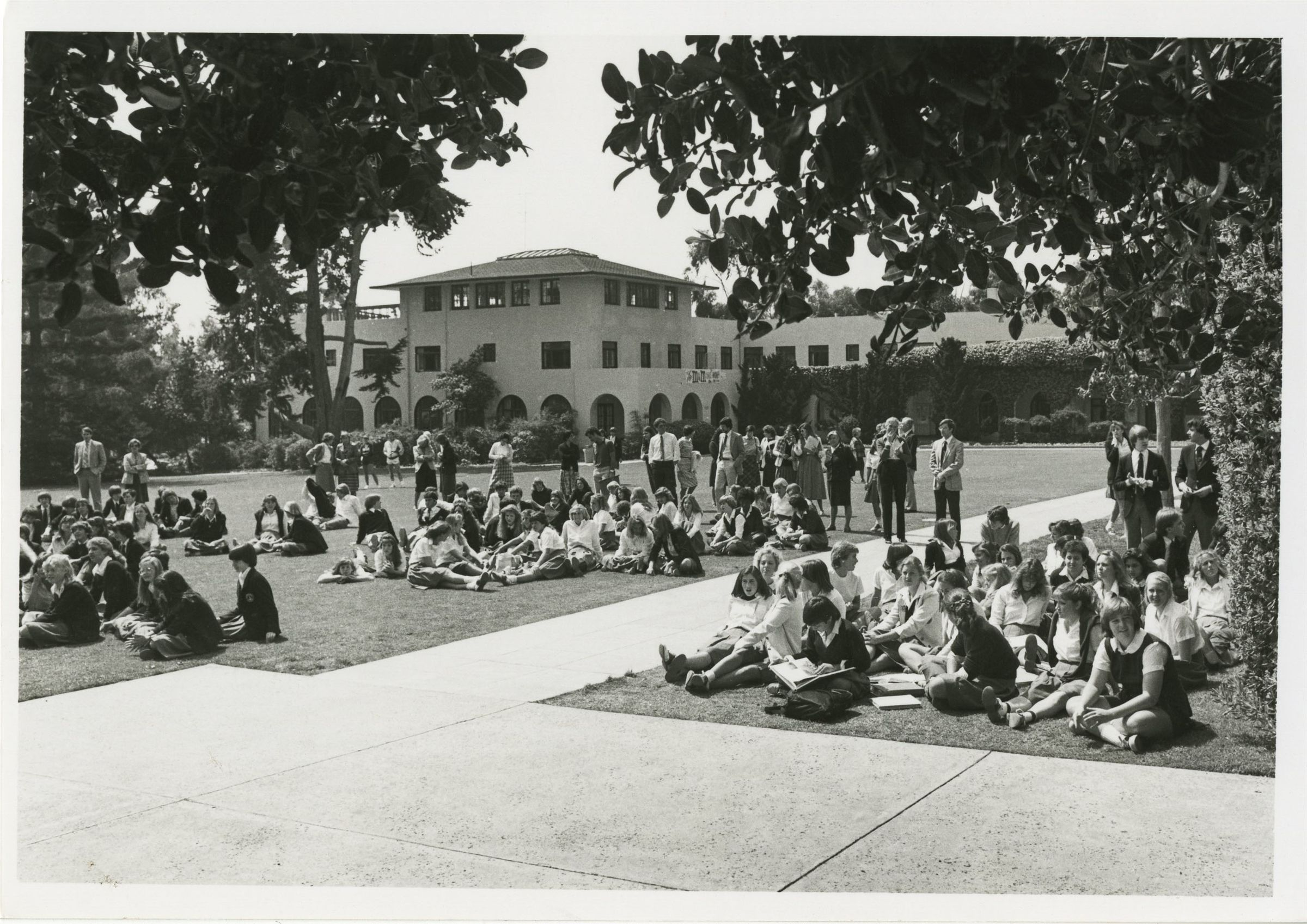 The Quad has also been a place of fun and camaraderie, as shown in this photo from 1982!