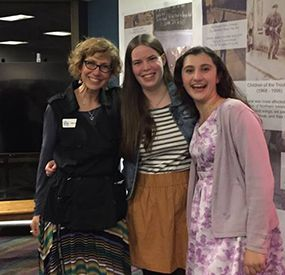 Director Dylan Russell, Playwright Margot Connolly, and Tessa Zitter '17