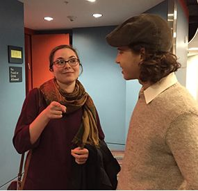 Dramaturg Julie McCormick and Yonim Schweig '17