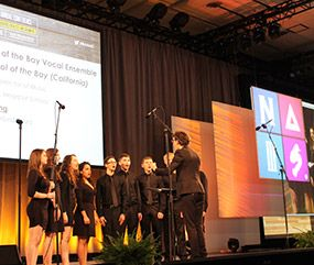 The JCHS Vocal Ensemble performs at the 2016 NAIS conference