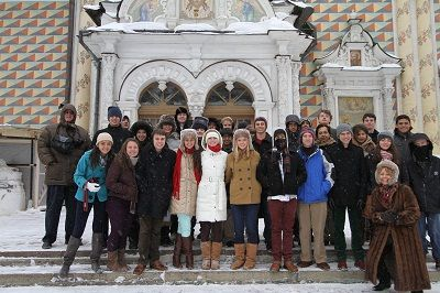 Model United Nations students traveled to and international conference in Russia this year.