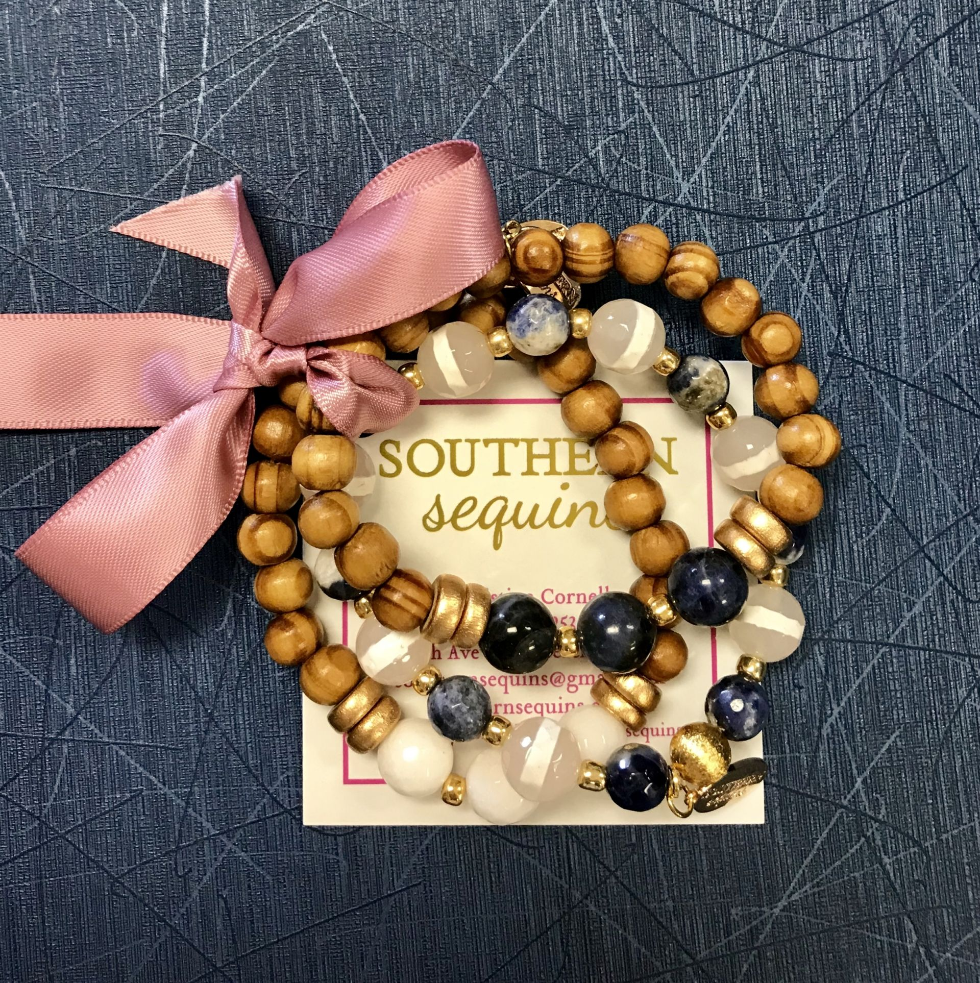 Southern Sequins exclusive St. Edward's stack.  $58.00