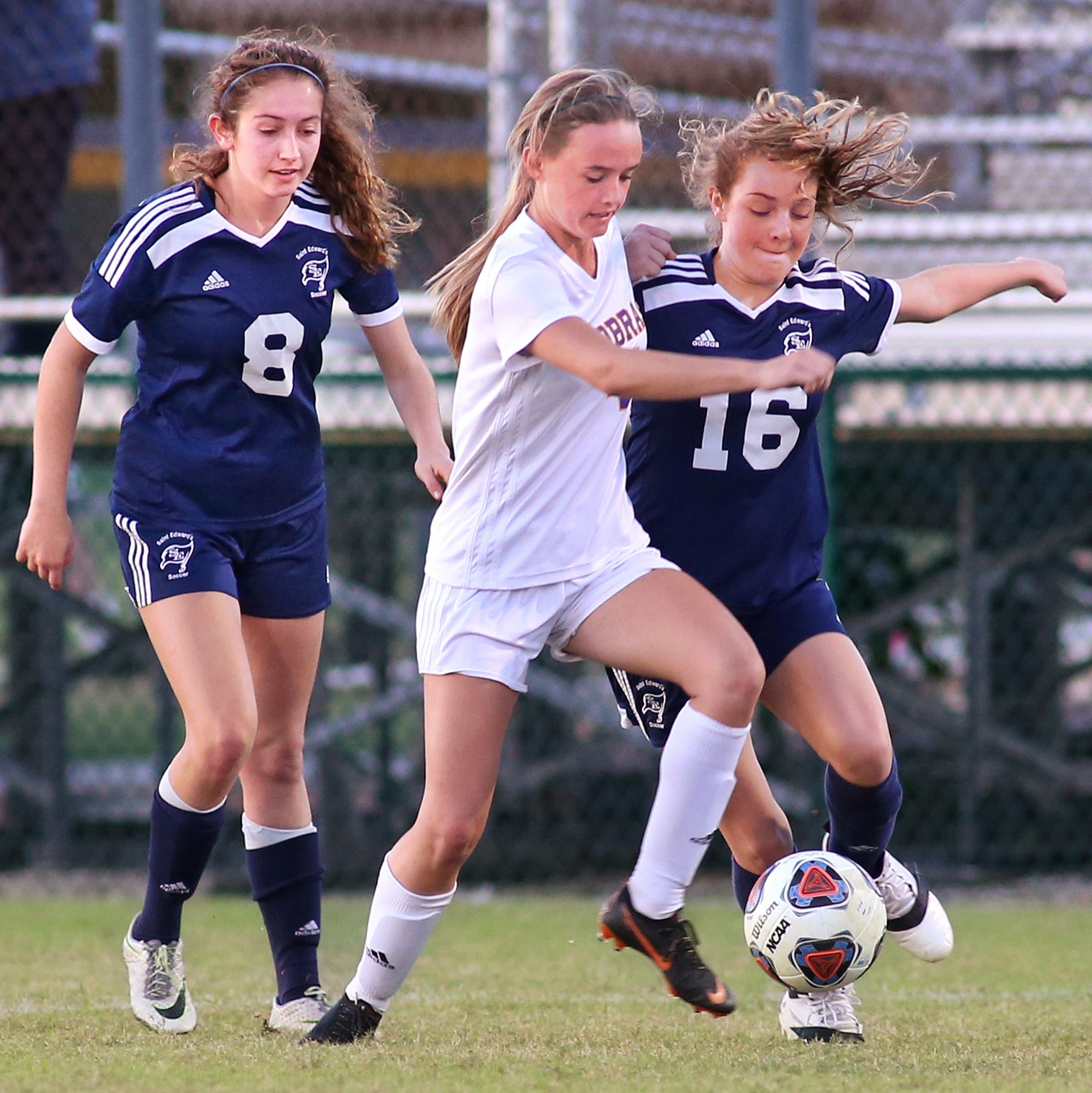 St Ed's Ft Pierce Central Girls Soccer