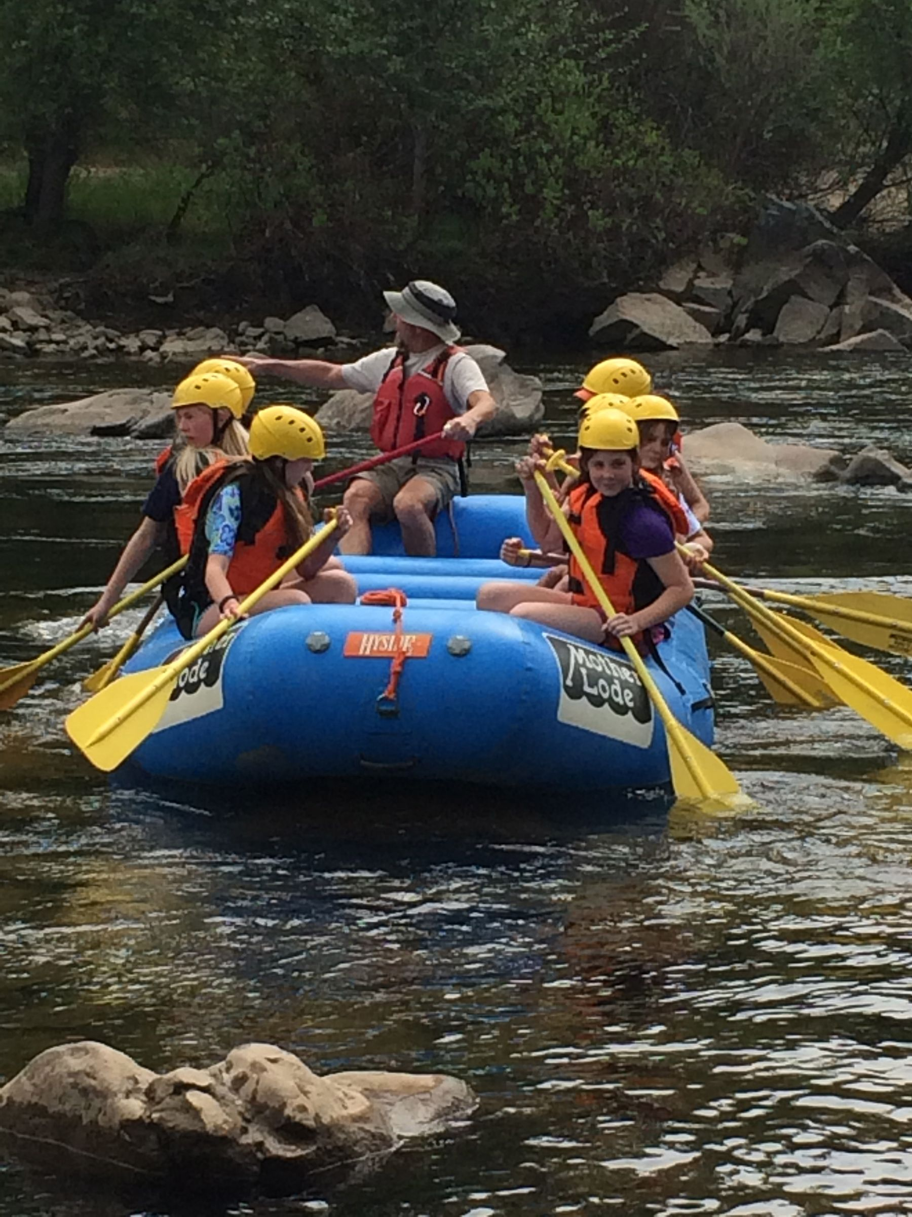 Grade 5: Three days, two nights – river rafting, American River