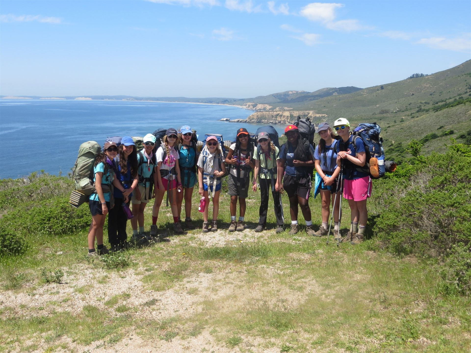 Grade 7: Four days, three nights – backpacking, Point Reyes National Seashore