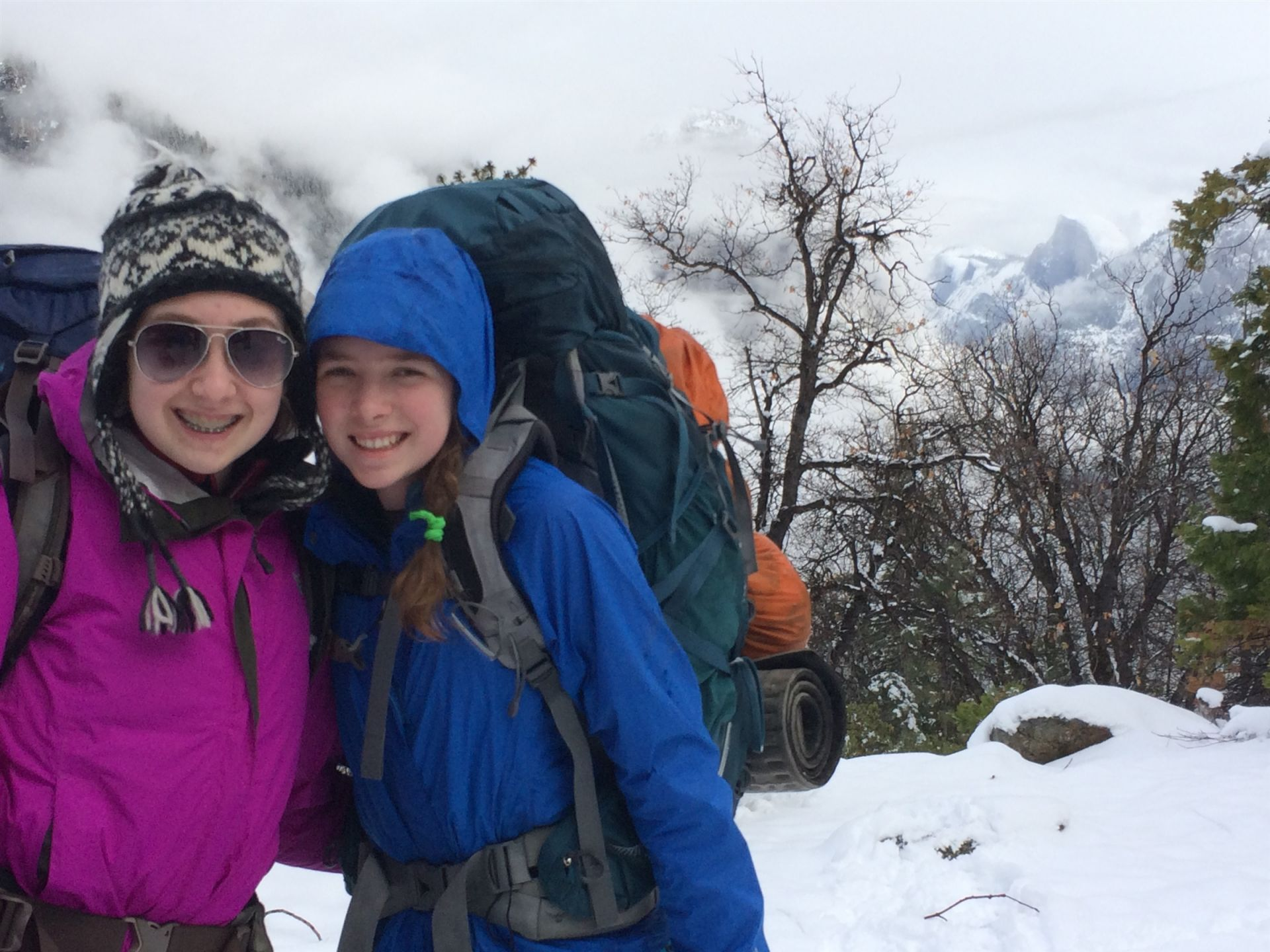 Grade 8: Five days, four nights – snow camping, cross-country skiing, hiking, Yosemite National Park