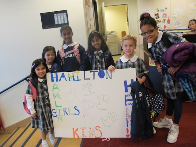 Students raise awareness of homelessness in San Francisco by supporting our partnership with the Hamilton Family Center.