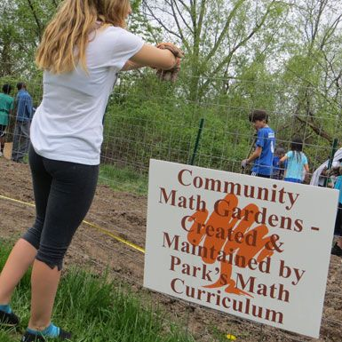 Middle and Upper School math students create a community garden, effectively demonstrating how math is an integral component in our daily lives.