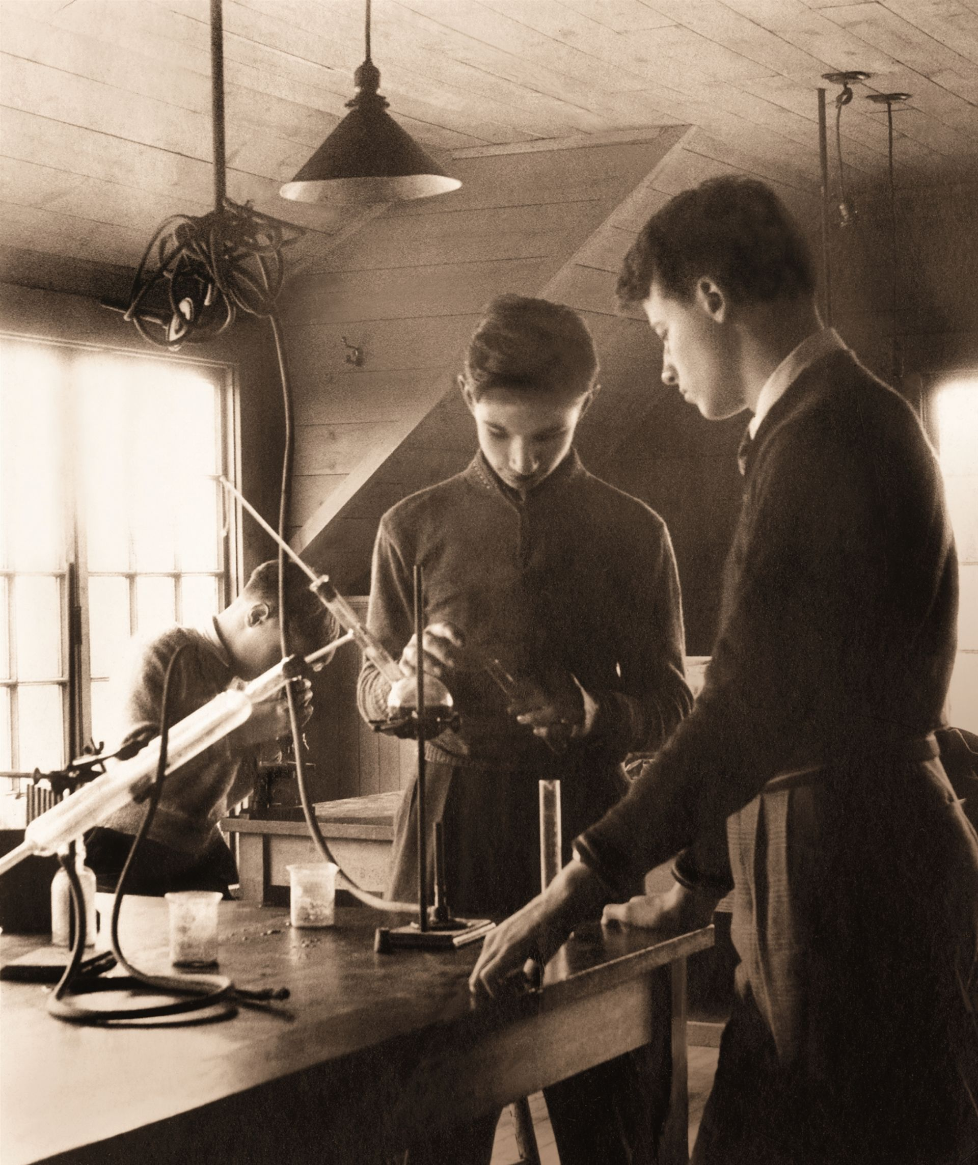 Science has always been an integral part of a Park School education. (c. 1930s)