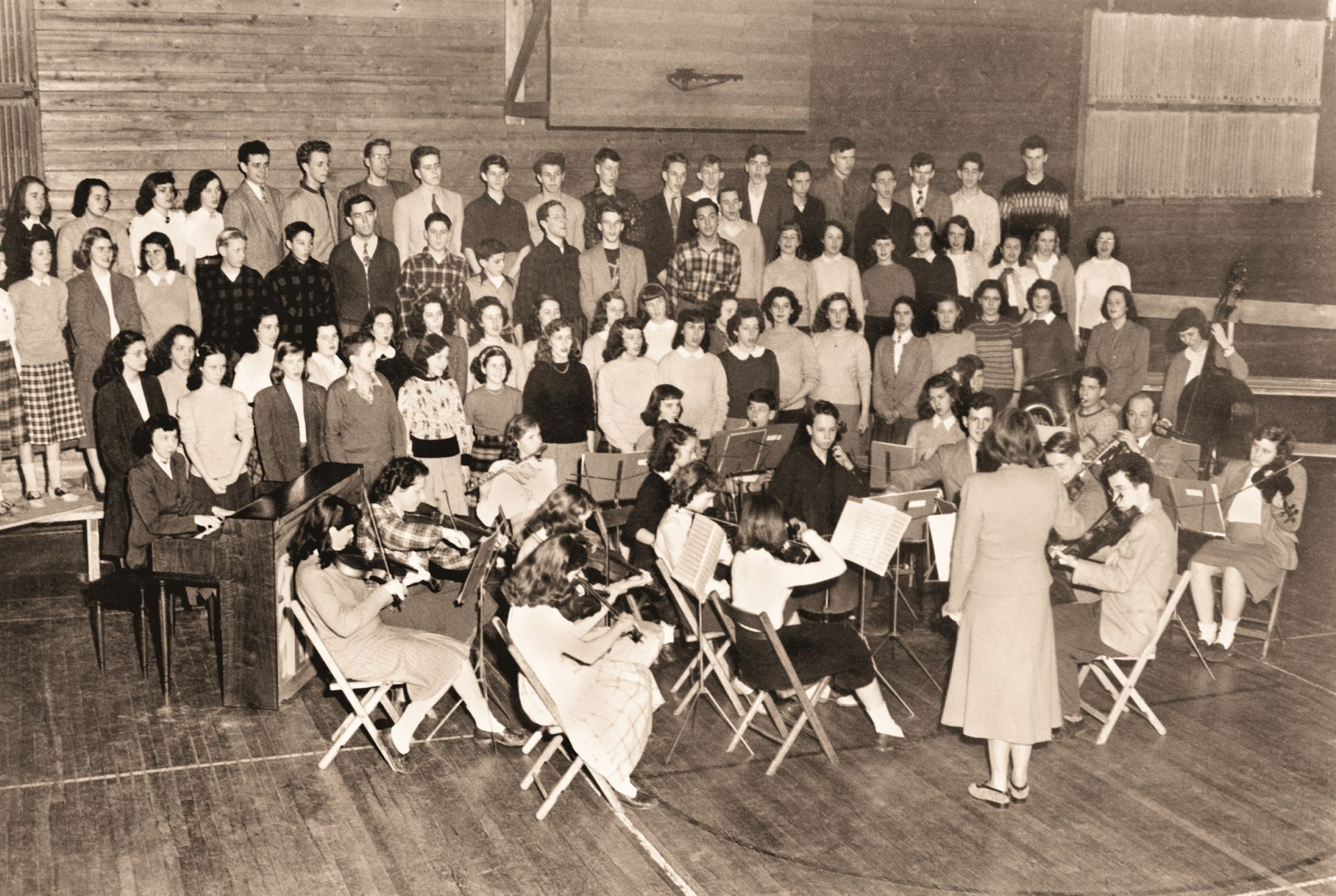 The Park School Orchestra and a variety of choruses date to the 1940s.