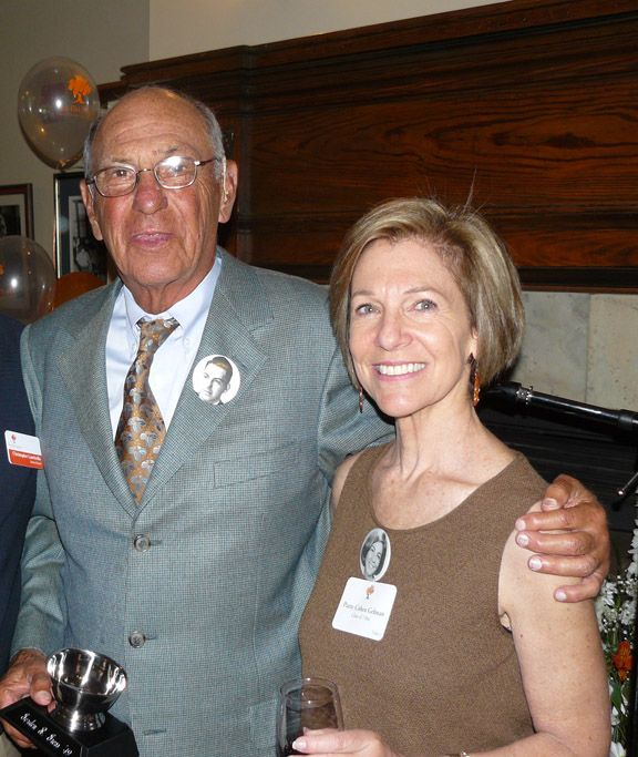 2009 Alumni Service Award winner Gordon Gross '49 with Patty Cohen Gelman '66