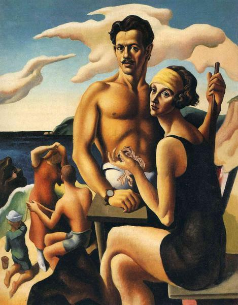 <p>Self-Portrait with Rita, 1922, by Thomas Hart Benton<br> National Portrait Gallery, Washington</p>