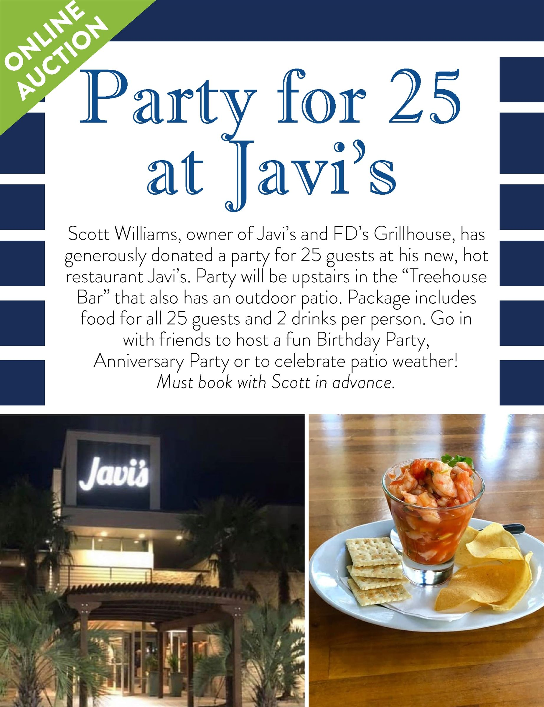 Party for 25 guests at Javi