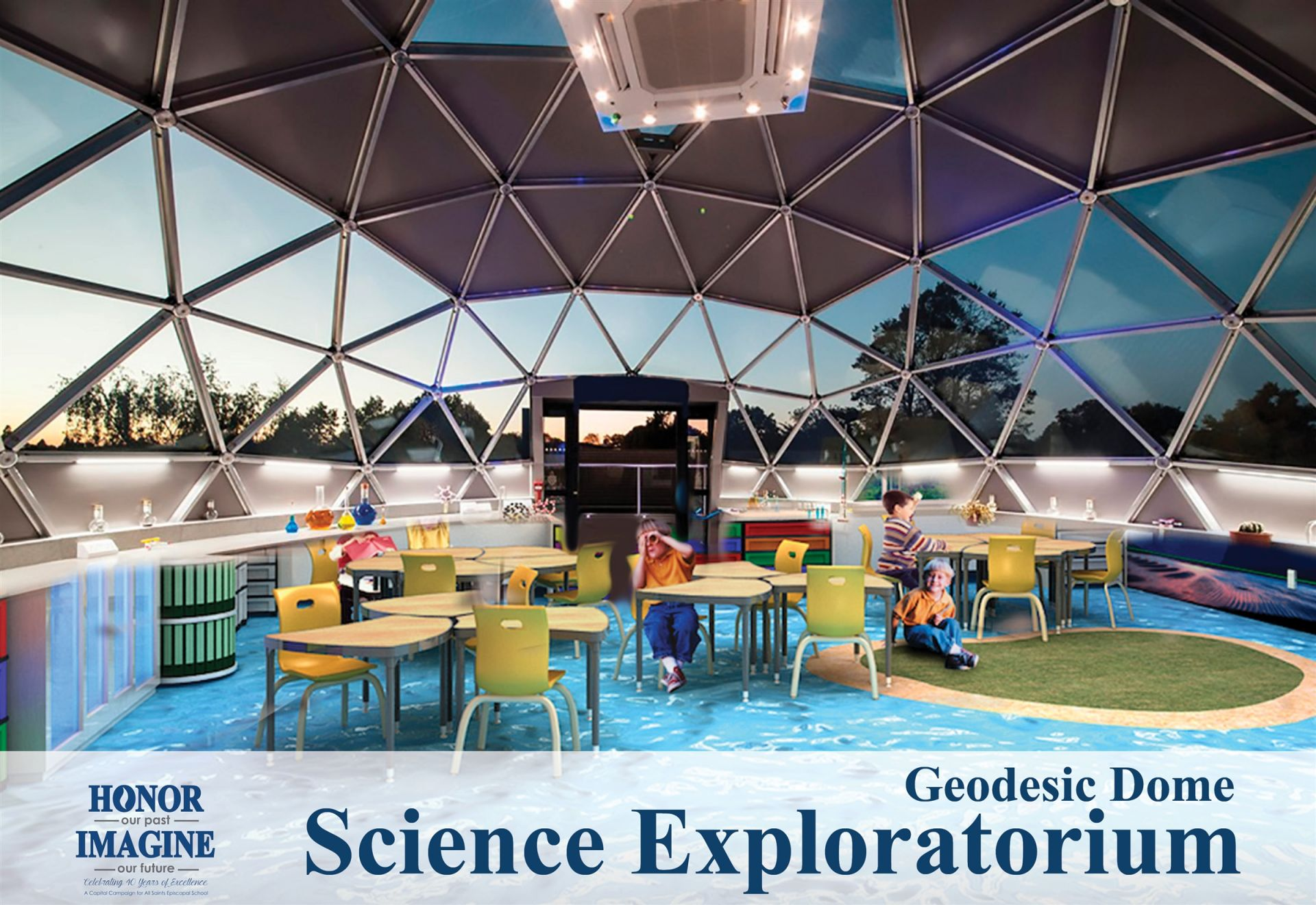In Summer 2019, we will build a spectacular geodesic dome Science Exploratorium.