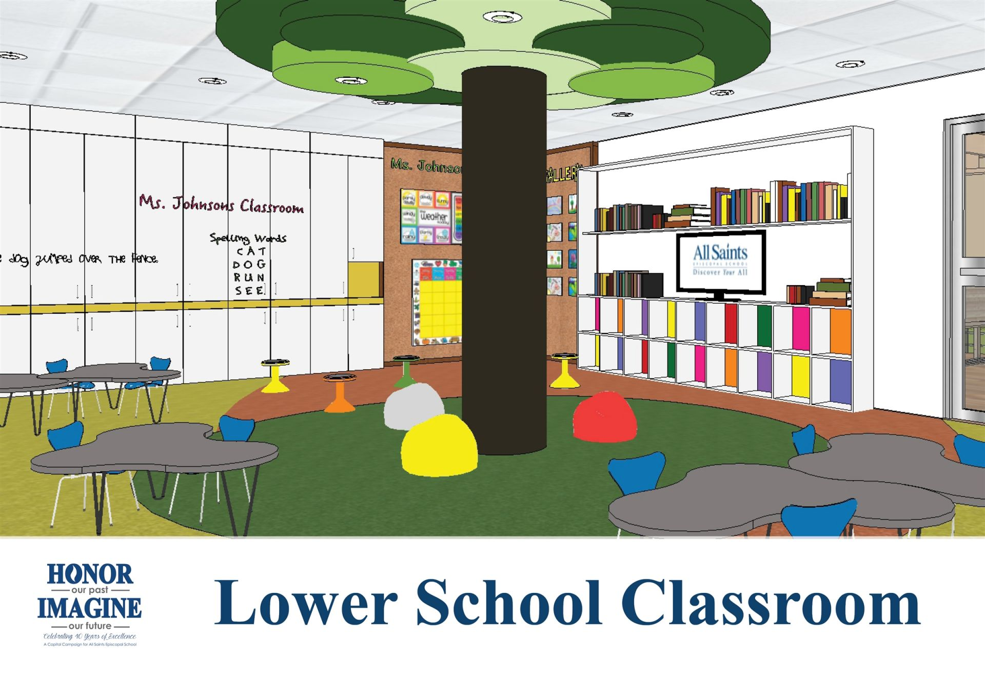 We will renovate all Early Learning and Lower School Classrooms in Summer 2019.