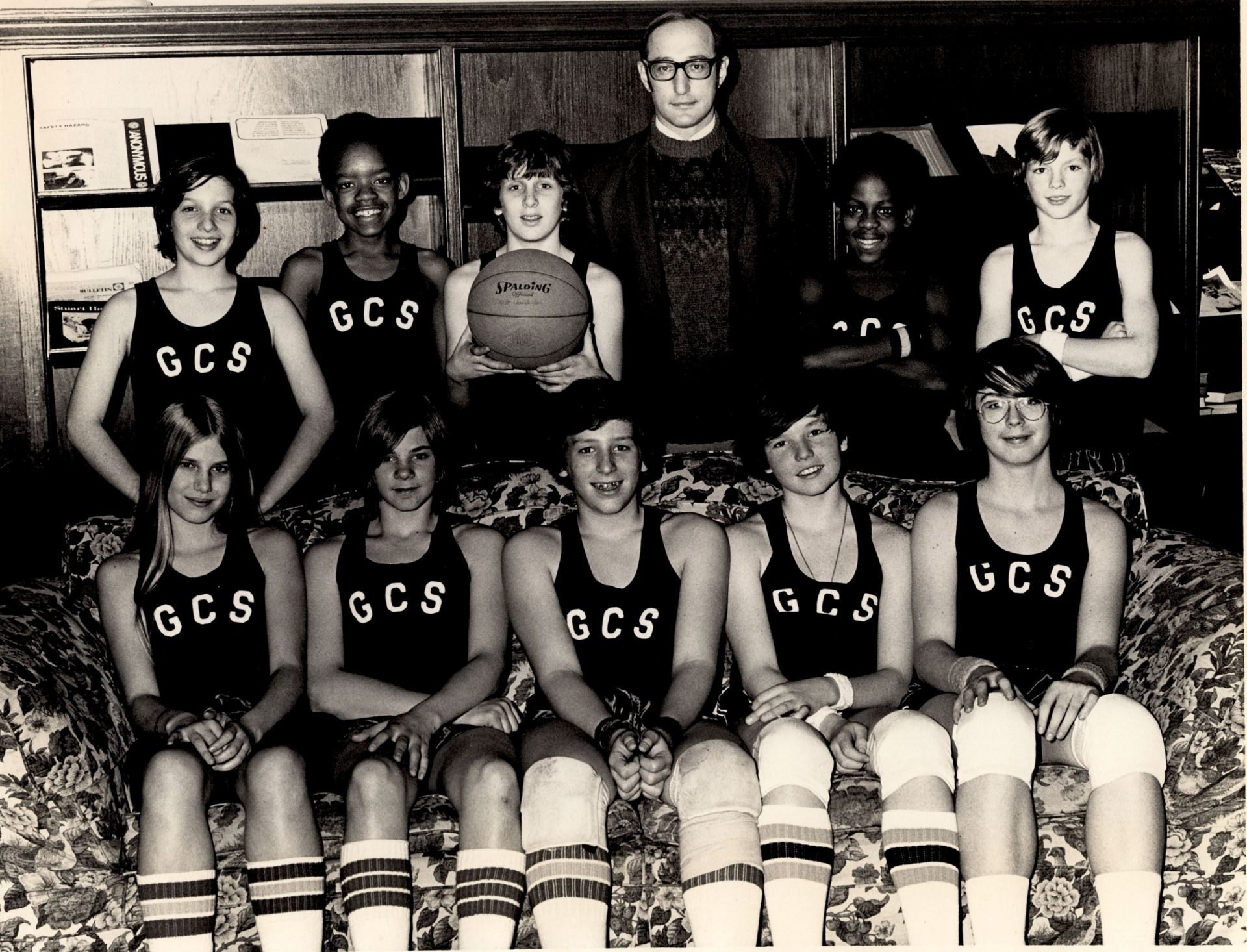 First girl to play on boys' basketball team, 1974