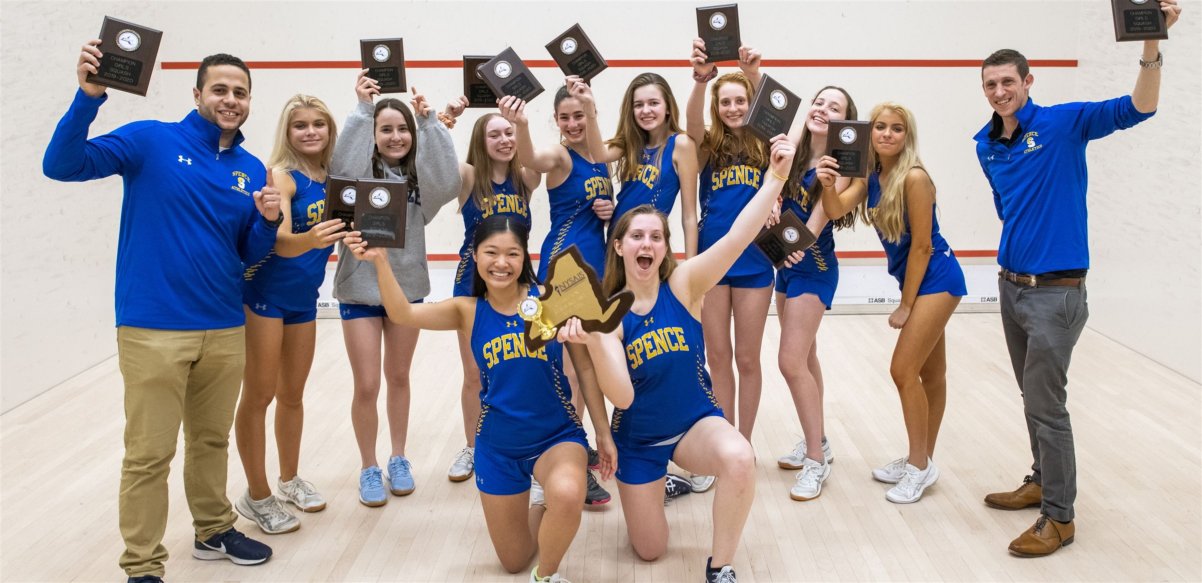 The Spence squash team won the AAIS and NYSAIS Championships and capped off their historic season with a number 10 spot in the National Division I Tournament.