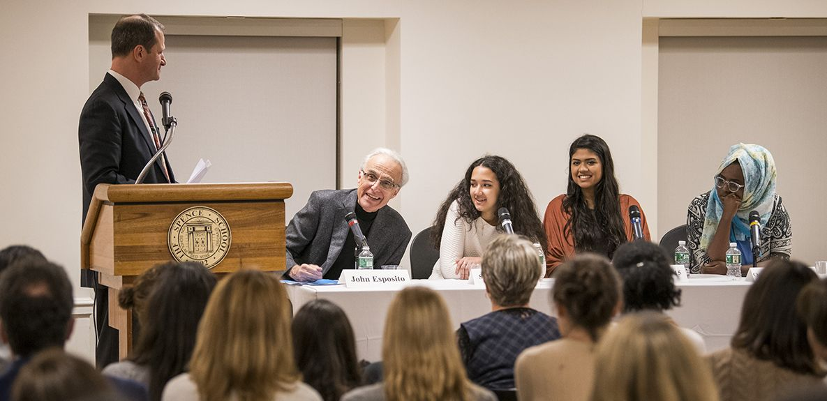 """Make the space for voices to be heard,"" remarks one of the student panelist for the 10th Annual Head's Forum focusing on The Many Faces of Islam."