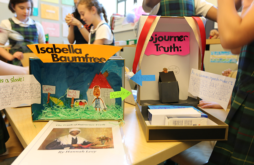 Fourth-graders engage in an integrated research project about women in history and learn to write research projects and bibliographies.
