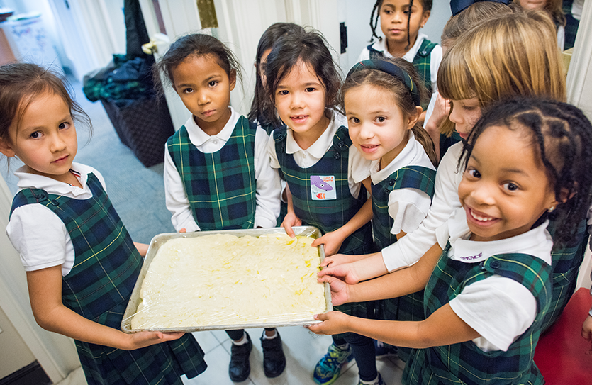 It's all hands-on learning when Kindergartners study the science and the art of making bread.