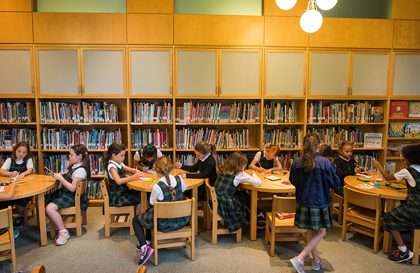 Weekly library classes focus on cultivating questions and learning how to evaluate and use information in books and online resources for research.