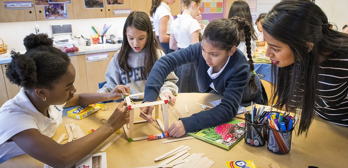 Spence's 'Project Home' is a Middle School immersion into the world of scientists and engineers. The program launched with a half-day residency with seven women engineers from the NYC firm of Jaros, Baum & Bolles.
