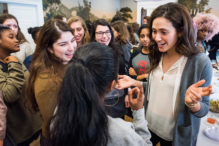 On Career Day, students get a chance to connect with alumnae.