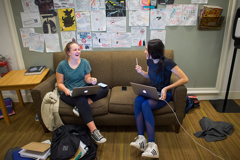 Spence offers plenty of spaces for students to hang out or study.