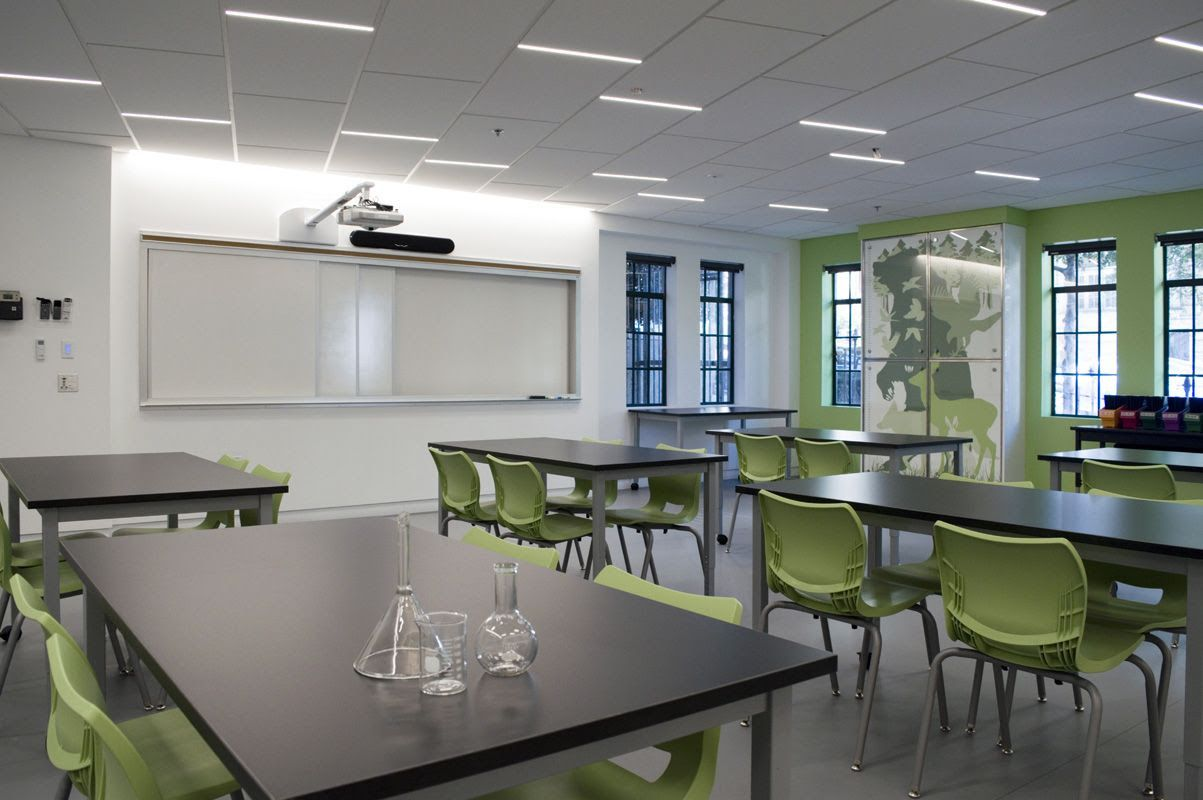 The new 5th & 6th science lab, a model for our renovated classrooms