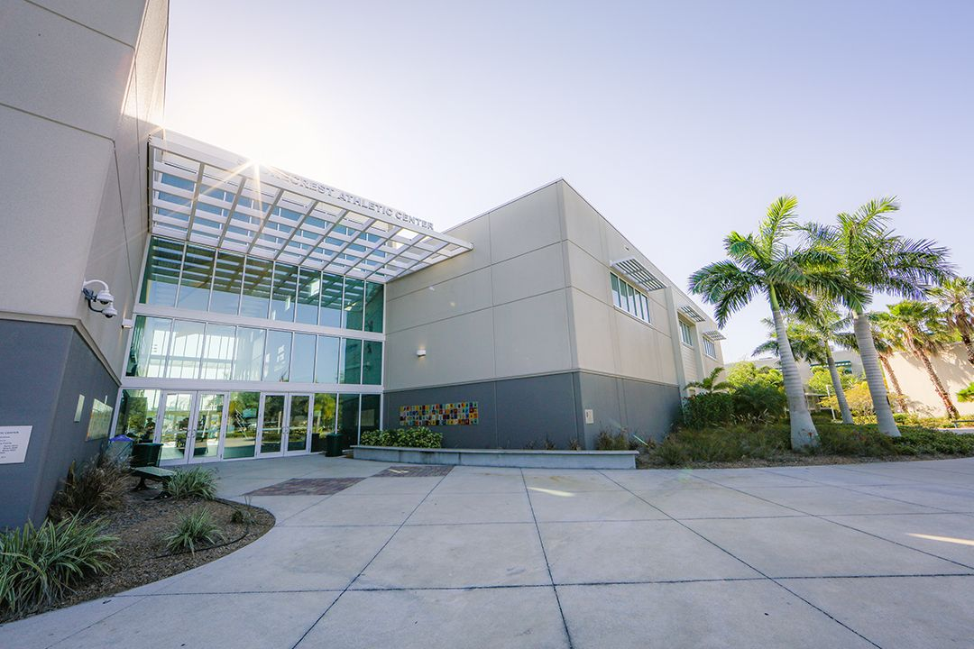 The Athletic Center (home of the Chargers!) houses the Crisp Gym, the Rec Gym, the weight room, locker rooms and more.