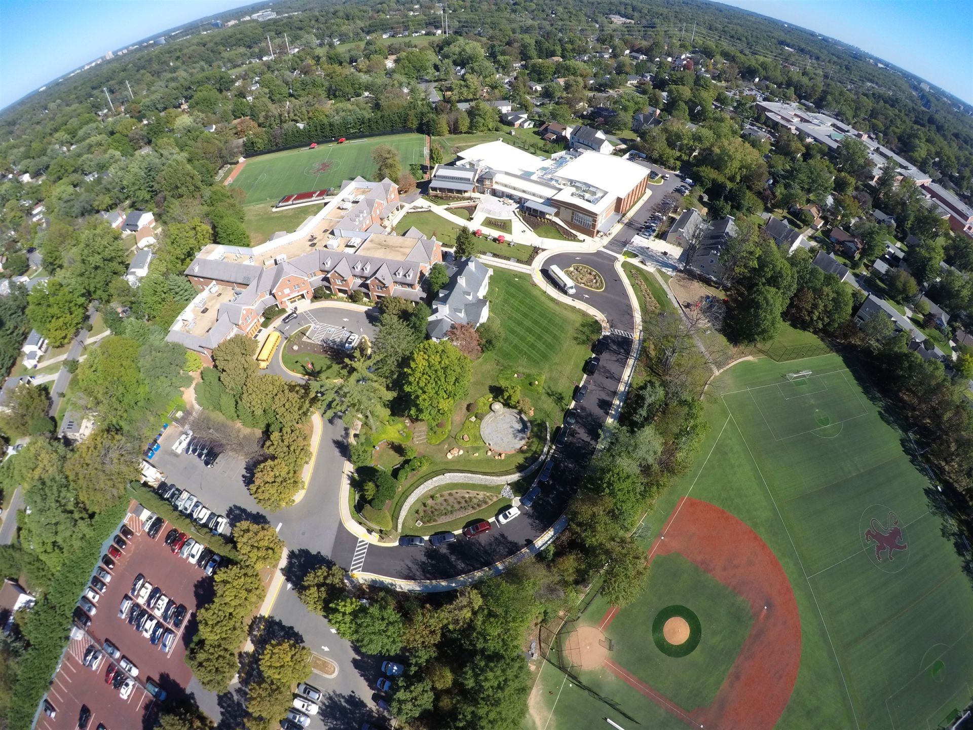 Aerial photograph of school campus - St. Andrew's Episcopal School