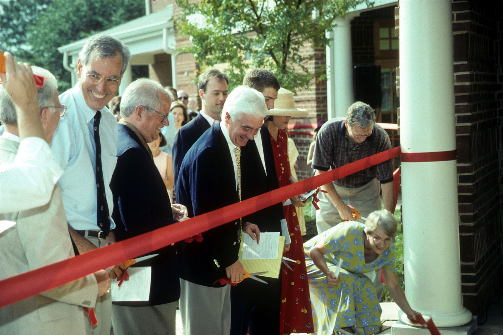 Ribbon cutting ceremony for new building - St. Andrew's Episcopal School