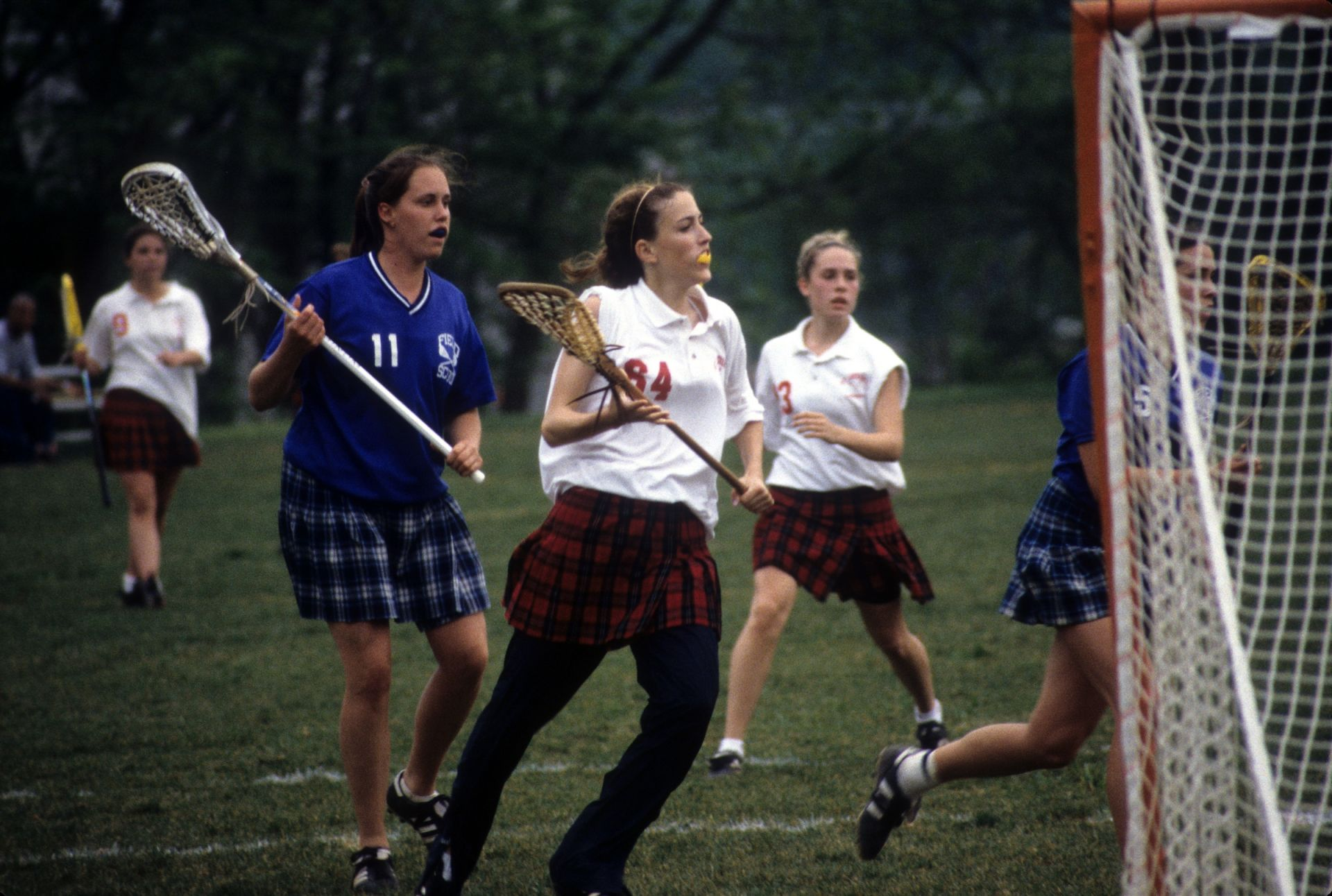 Girls lacrosse during a game - St. Andrew's Episcopal School
