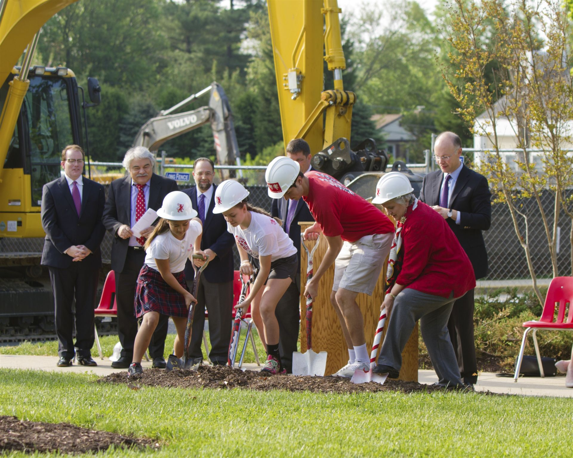 Breaking ground for the Student Center on the Postoak campus - St. Andrew's Episcopal School