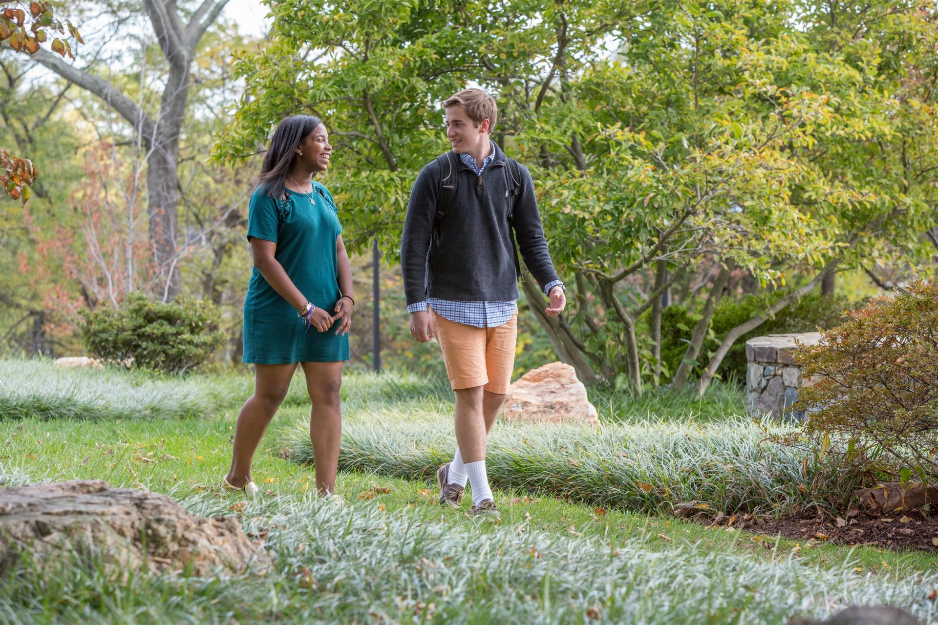 Two students walking on campus - St. Andrew's Episcopal School