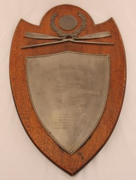 The Hun School of Princeton has a long tradition of rowing excellence. This plaque was presented to the eight-man shell for winning the American Rowing Association Regatta in Philadelphia, Pennsylvania.