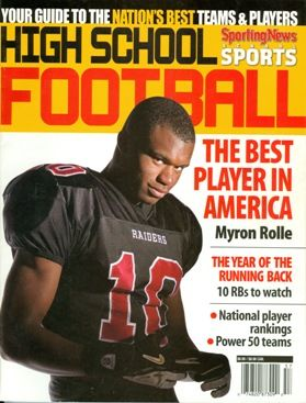 In 2005 Myron Rolle '06 was named the best football recruit in America.