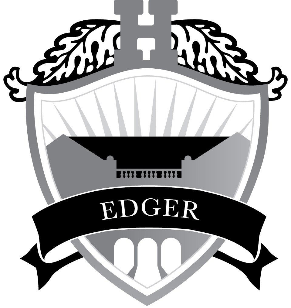 Named for Russell Hall's original estate title, Edger House represents history, tradition, and respect for the lasting character of The Hun School. The Edger House logo is silver and features a graphic of Russell Hall.