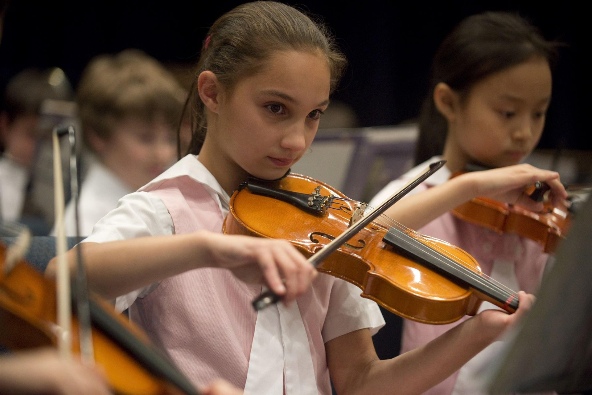 Our instrumental music students perform for the community twice a year.