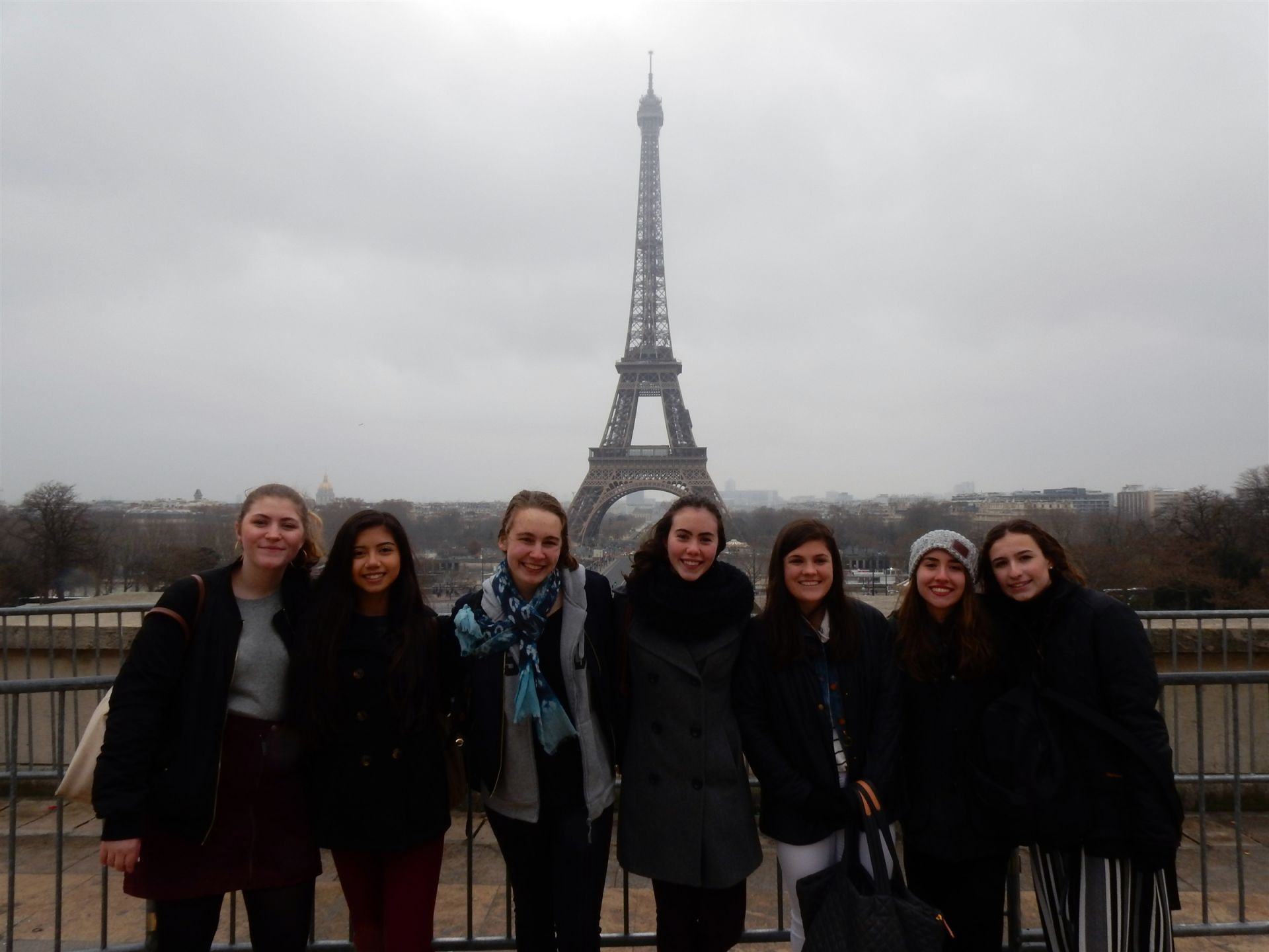 Our students visited some of the iconic sights in Paris.