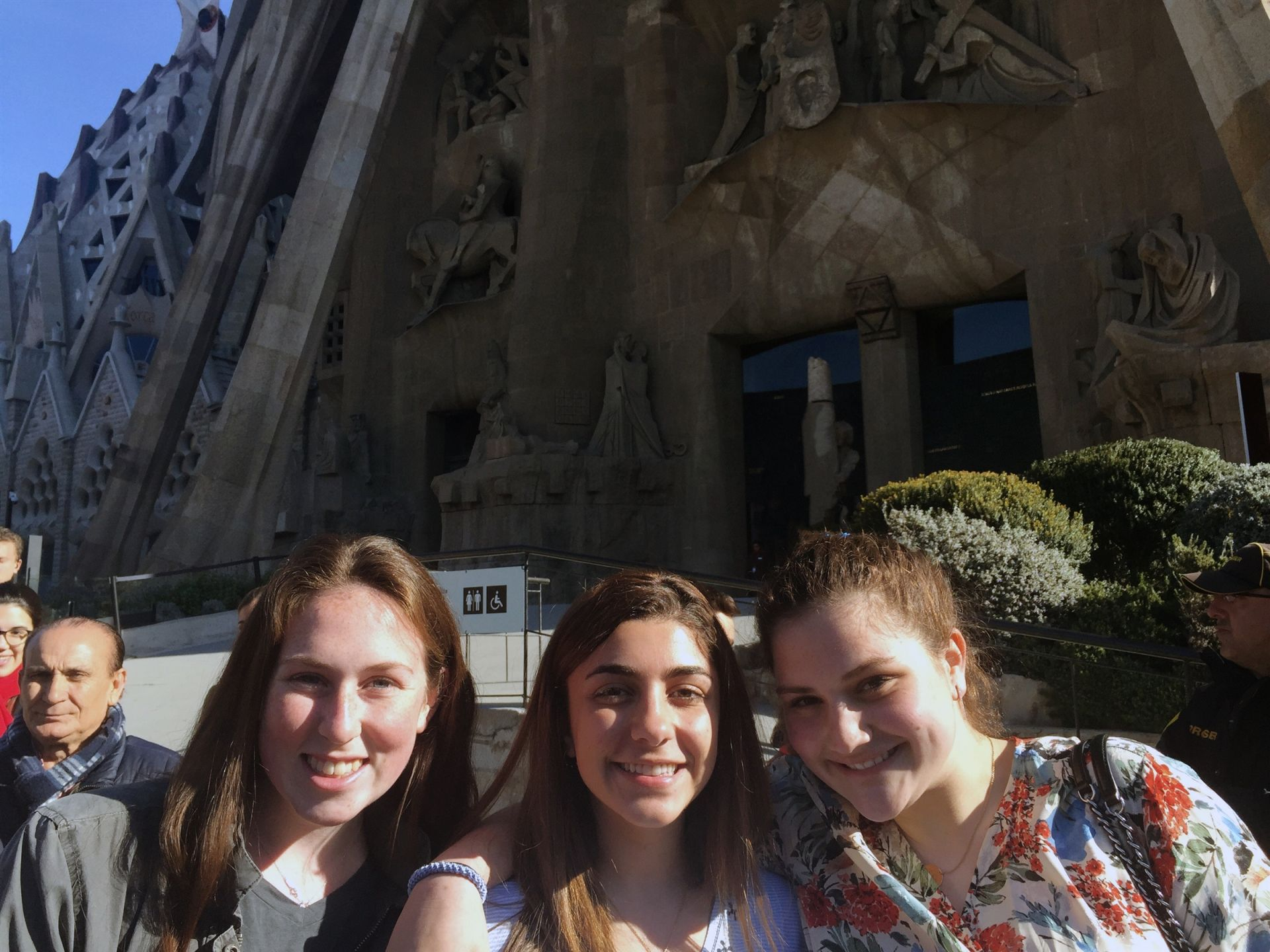 Students enjoyed a special Easter Mass at the Sagrada Familia, a large Catholic church in Barcelona!