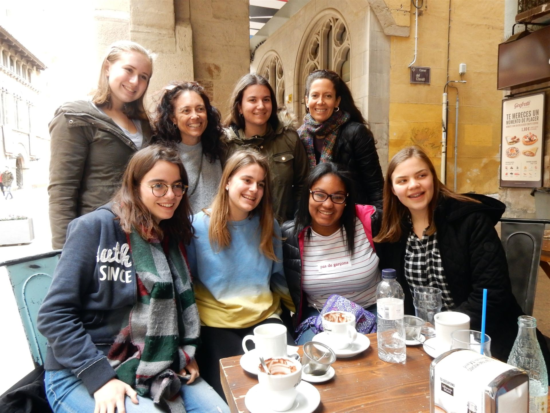 Like their counterparts in France, students and faculty in Barcelona were able to enjoy fine European dining.