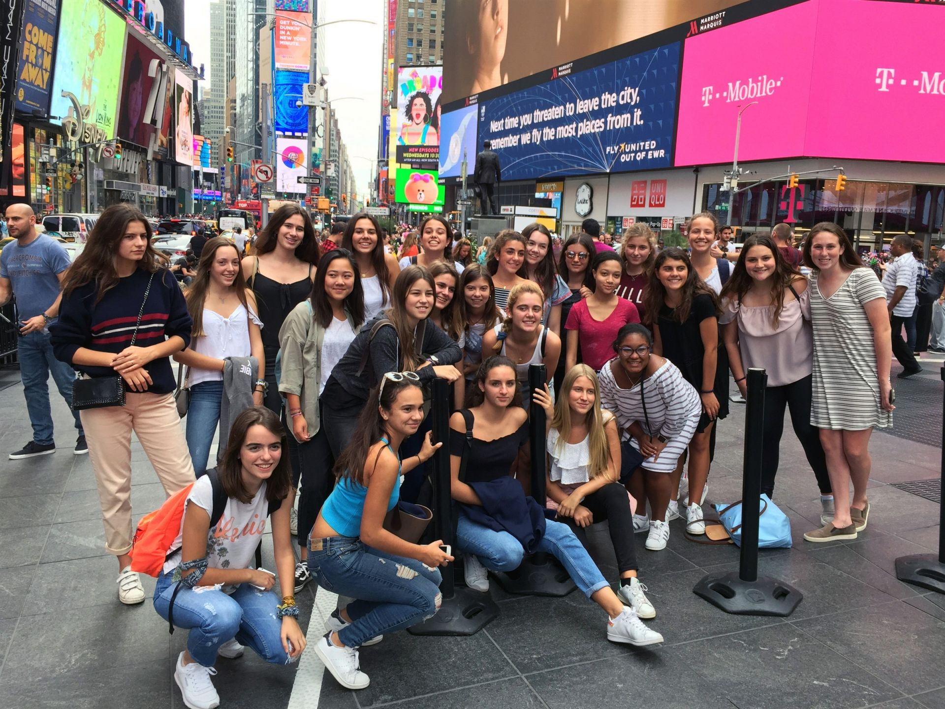 If you're visiting the tristate area from abroad, what better place to go to than Times Square in New York City?