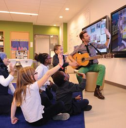 With 70-inch interactive touch screens in every classroom, students collaborate across the ocean at every grade level.