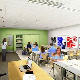 Learning spaces purpose-designed to encourage lively, engaged thinking
