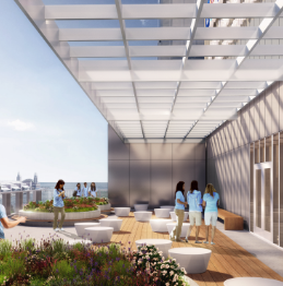 Innovative common spaces will provide breathtaking view of Chicago's lakefront and architecture.