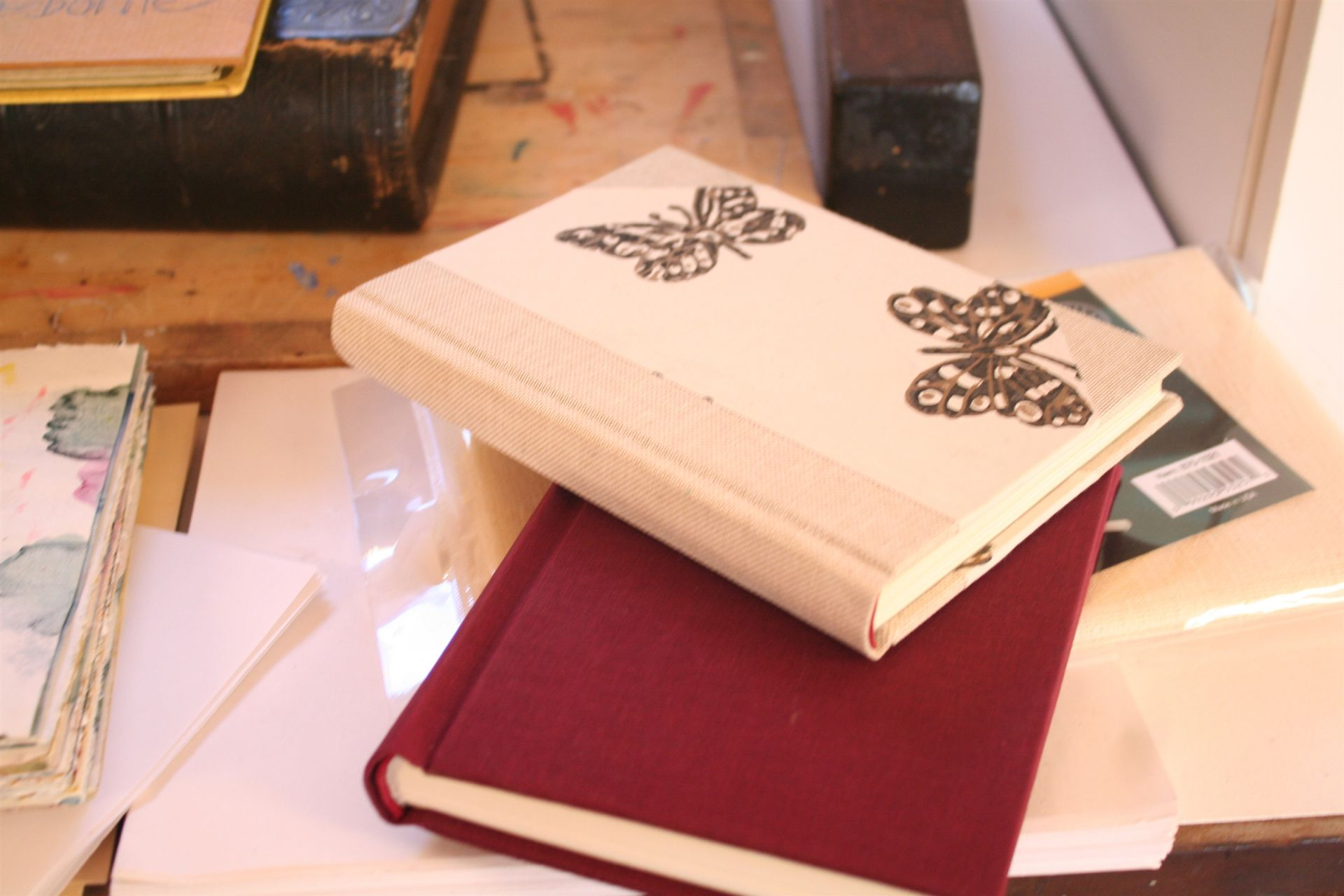 Some finished bookbinding projects