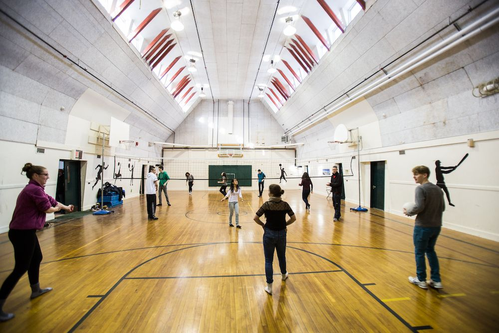 The Gymnasium is used for sports practices and our spatial dynamics program.