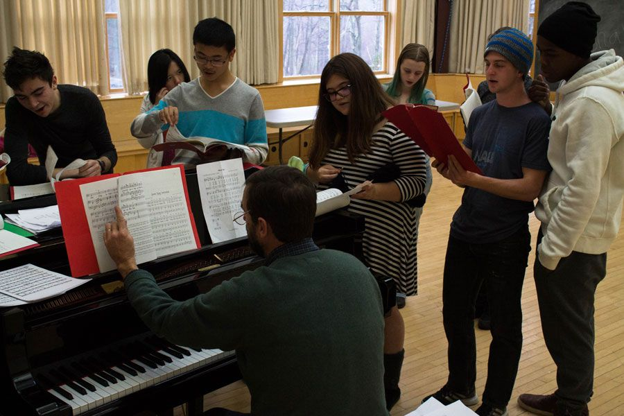 Walter leads the caroling class in 'Here We Come A-wassailing'. Great preparation for the upcoming Yule Festival.